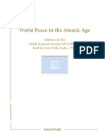 Kirpal Singh – Sant Mat – World Peace in the Atomic Age