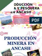 Producción Minera y Pesquera en Ancash