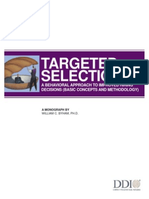Targetedselection Mg Ddi | Competence (Human Resources