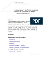 Modulo de Analisis y Diseno Tercero Bachillerato