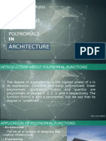 Applicatn of Polynomial Functions in Real Life (Architecture and Engineering)