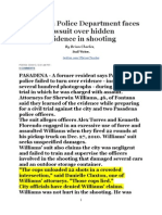 3/3/14  Pasadena Police Department Faces Lawsuit Over Hidden Evidence in Shooting (re Hugh Halford)