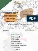 Integracion de Datos de Registros de Pozos, Analisis de Nucleos y Pruebas de Presion
