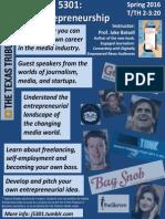 Media Entrepreneurship, Spring 2016