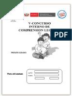 V - Concutrso Interno de Comprensión Lectora y Razonamiento Verbal 2015
