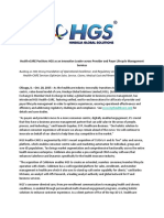 Health+CARE Positions HGS as an Innovative Leader across Provider and Payer Lifecycle Management Services [Company Update]
