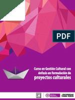 GestionCultural Enfasis Formulacion Proyectos