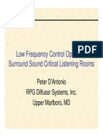 Low Frequency Control in Rooms