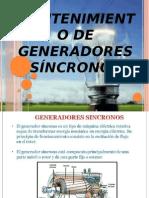 Mantenimiento de Generadores Síncronos