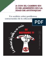 ¿Qué pasa con el cambio en el examen de admisión en la Universidad de Antioquia?