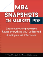 Mba Snapshots in Marketing