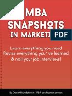 Mba Snapshots in Marketing