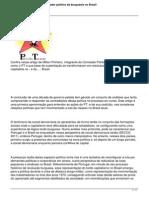 Milton Pinheiro - Artigo - O Governo Petista Como Operador Politico Da Burguesia No Brasil