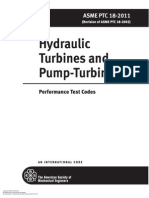 ASME PTC 18-2011-Hydraulic Turbines and Pump-Turbines-Performance Test Codes
