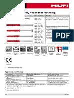 HRD Frame Anchor Redundant Fastening