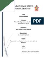 Protocolo de Investigacion Factores Abioticos