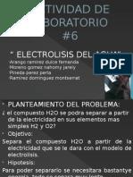 Actividad de Laboratorio Electrolisis