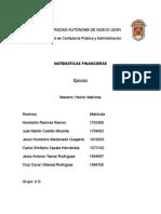 matemáticas financiera Ejercicios 5 Al 17