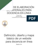 Definición, diseño y mapa básico de un website para docencia en línea