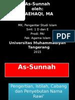 Materi PSI PAI 1 As-Sunnah.ppt