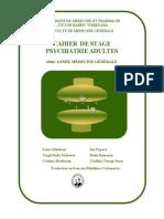 Cahier de Stages Psychiatrie Adultes