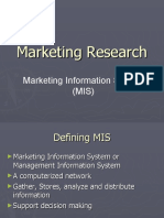 Marketing Research In MIS
