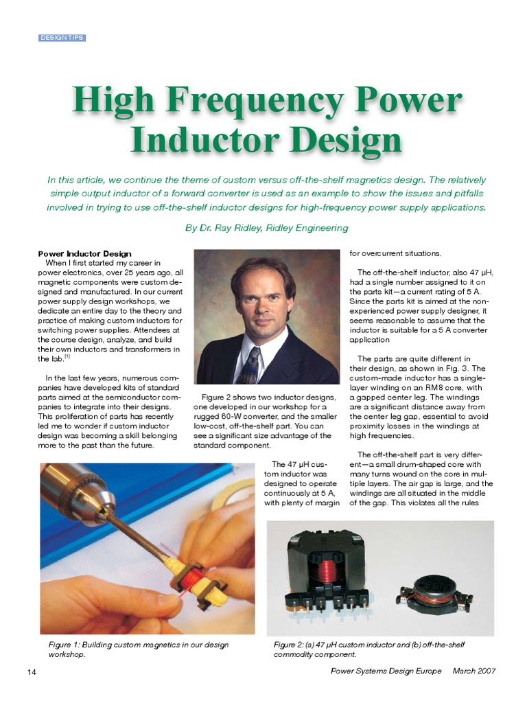 High Frequency Power Inductor Design | Inductor | Electrical
