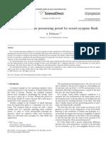 Presurrisation of Storage Vessels Cryo Nov 2006