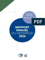 Rapport du médiateur 2014