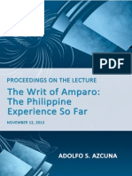 The Writ of Amparo; The Philippine Experience So Far_CD