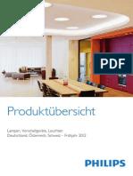 Philips Produktuebersicht Lampen Vorschaltgeraete Leuchten DACH 2012