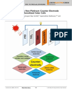 Recent Progress in Non-Platinum Counter Electrode Materials for Dye Sensitized Solar Cells