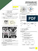 Ophthalmology - Ocular Manifestations (Dr. Barja)