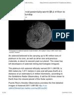 Platinum Asteroid Gold