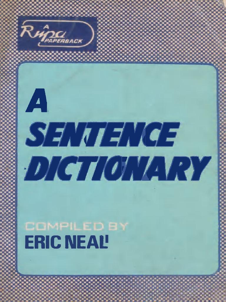 A Sentence Dictionary Spelling Dictionary