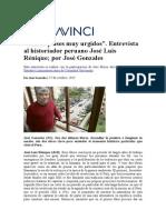 Somos Países Muy Urgidos - Entrevista a José Luis Reñique