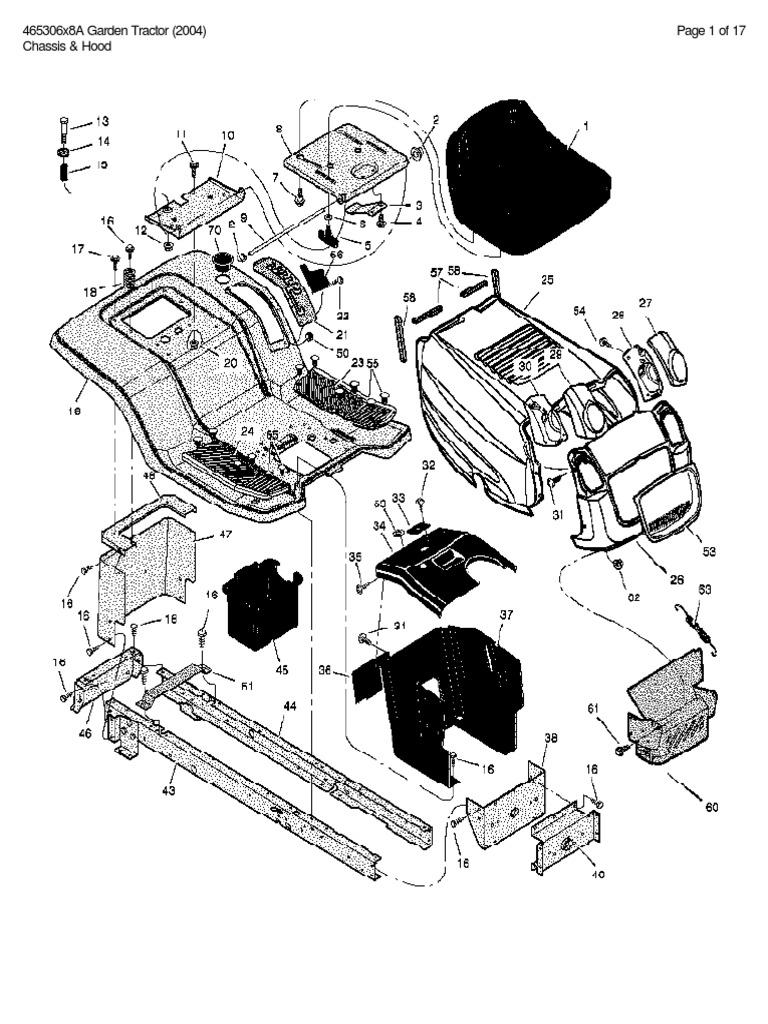 Murray Model 465306x8a Garden Tractor (2004) Parts List