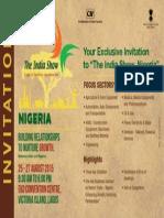 Exclusive Inivitation - The India Show Nigeria