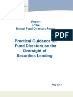 Board Oversight of Securities Lending May 2012