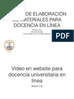 Video en website para docencia universitaria en línea