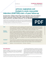 Comparison of primary angioplasty and pre-hospital fibrinolysis in acute myocardial infarction (CAPTIM) trial