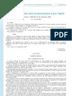 Discrimination Mariage PaCS Droits Sociaux Halde