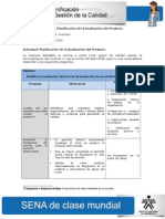 DesarrolloActividad de Aprendizaje Unidad 4 Planificacion de La Realizacion Del Producto