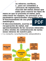 Caracterizacion de los minerales