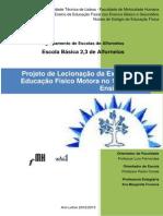 Anexo 19 - Projeto de Lecionação Da EFM No 1ºCiclo