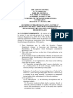 (Manner of Increasing and Maintaining Public Shareholding in Recognised Stock Exchanges) (Amendment) Regulations, 2008