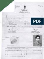 Gas Testing Certificatew