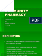 Community Pharmacy l1-l4