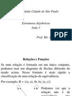 Estruturas Algébricas - Aula 3 - Relações e Aplicações II