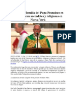TEXTO Homilia Papa Francisco 24-09-2015
